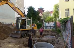 18.08.2016: Bau der Fundamente für den Kran