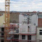 Blick vom Kirchturm auf das entstehende 5. Obergeschoß